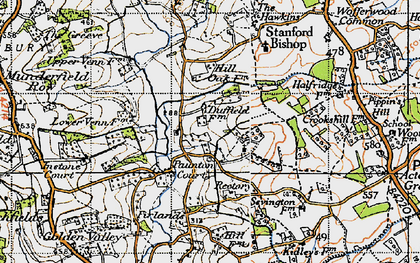 Old map of Acton Beauchamp in 1947