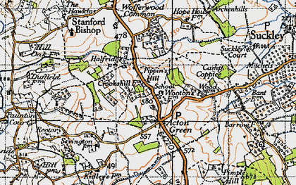 Old map of Acton Green in 1947