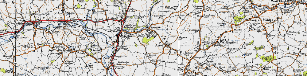 Old map of Acton Place in 1946