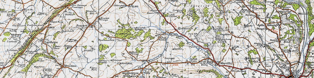 Old map of Acton Round in 1947