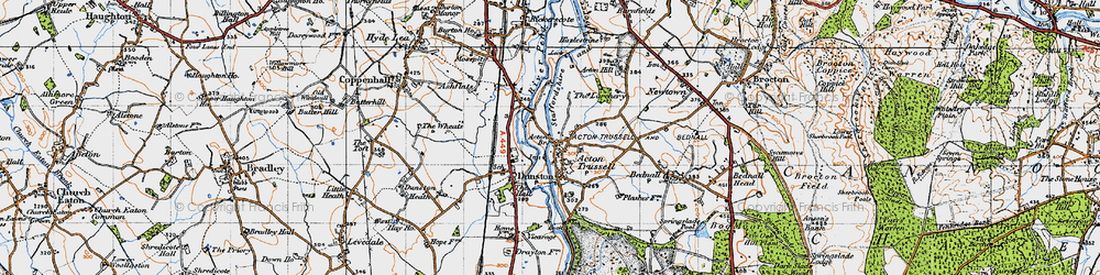 Old map of Acton Br in 1946