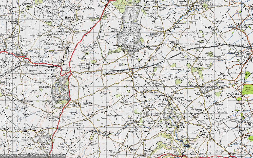 Old Map of Acton Turville, 1946 in 1946