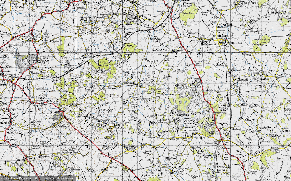 Old Map of Adam's Green, 1945 in 1945