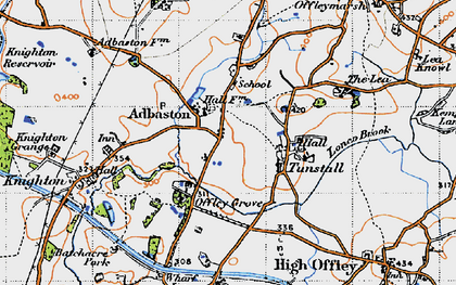 Old map of Adbaston in 1946