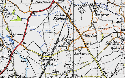 Old map of White Post in 1945