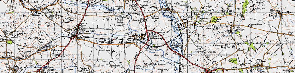 Old map of Adderbury in 1946