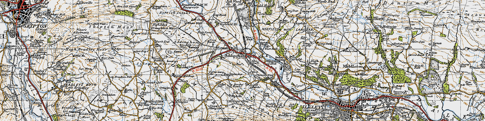 Old map of Addingham in 1947