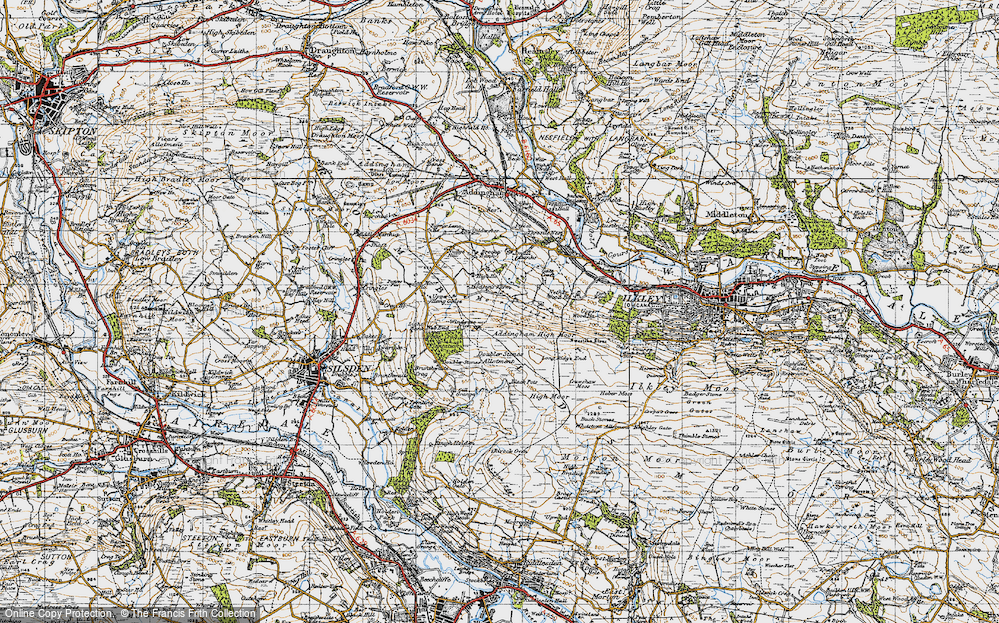 Old Map of Addingham Moorside, 1947 in 1947
