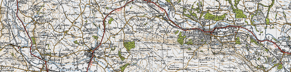 Old map of Whetstone Allotment in 1947