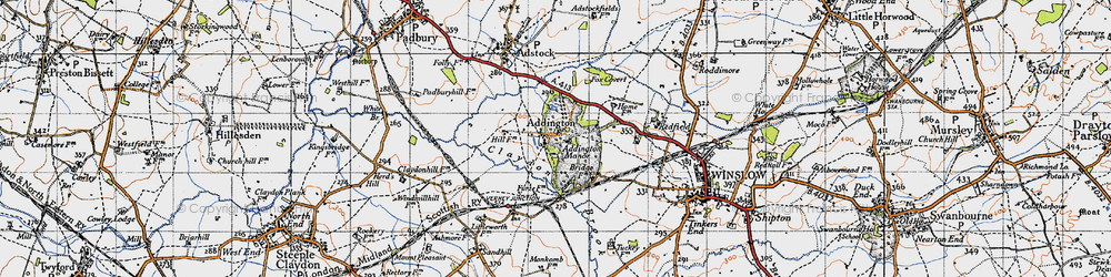 Old map of Addington Manor in 1946