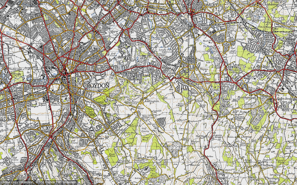 Old Map of Addington, 1946 in 1946