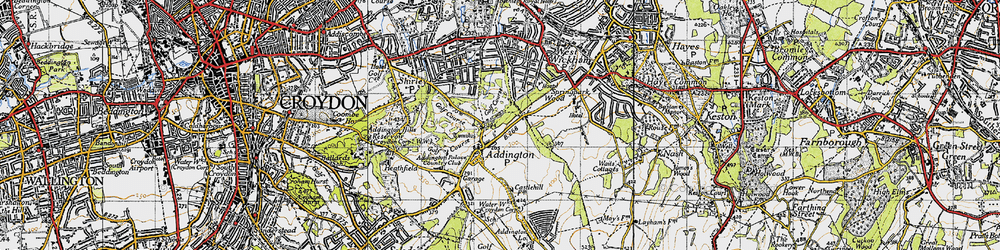 Old map of Addington in 1946