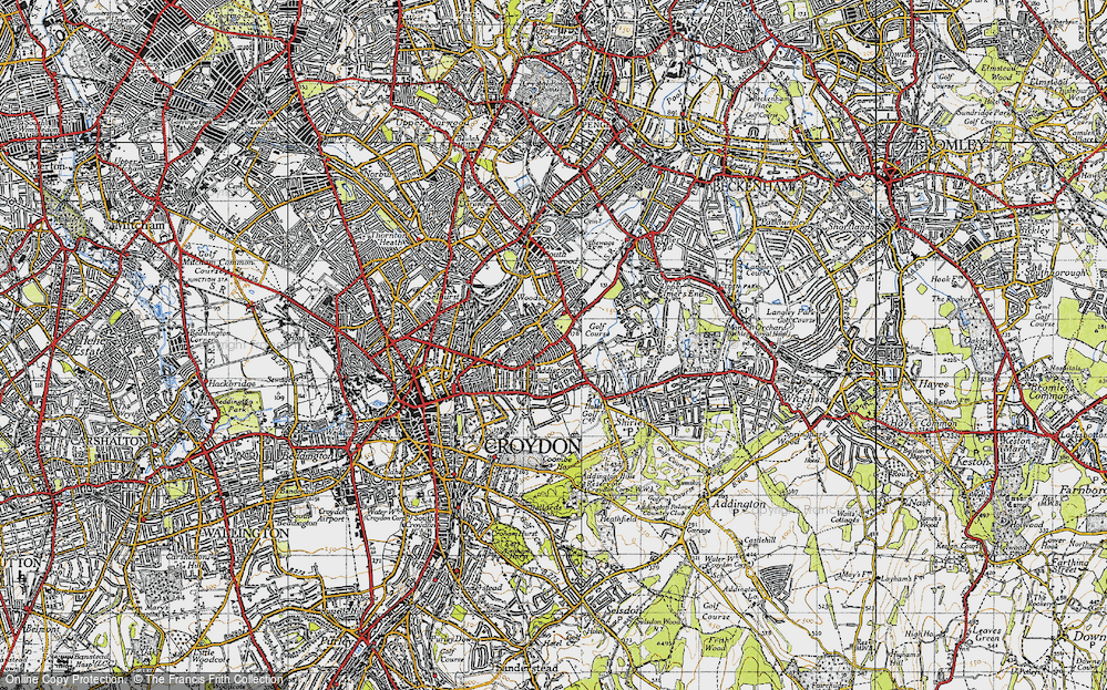 Old Map of Addiscombe, 1946 in 1946