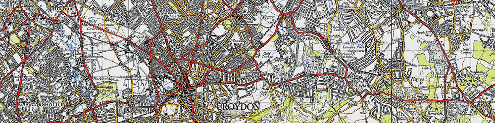 Old map of Addiscombe in 1946