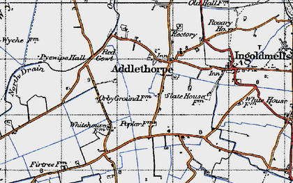 Old map of Addlethorpe in 1946
