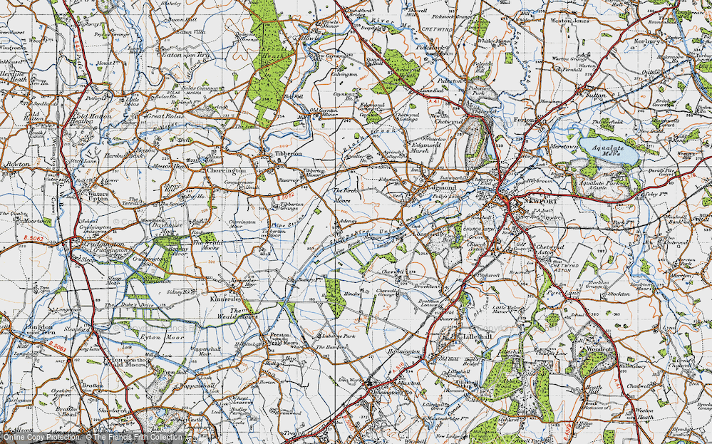 Old Map of Adeney, 1946 in 1946
