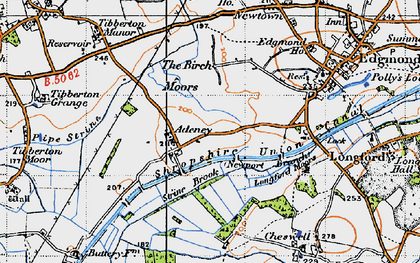 Old map of Adeney in 1946