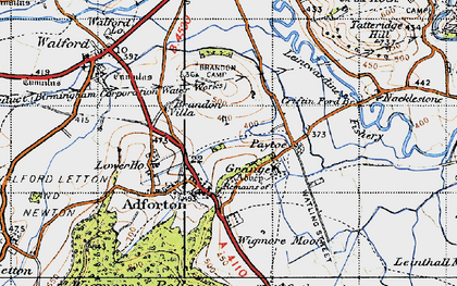 Old map of Wigmore Moor in 1947