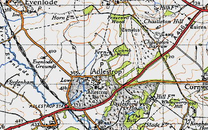 Old map of Adlestrop Park in 1946