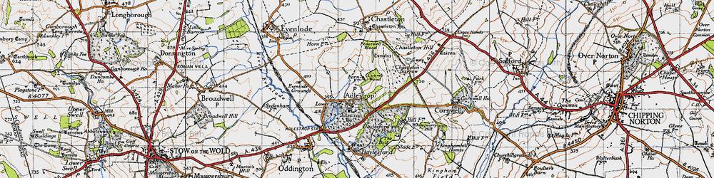 Old map of Adlestrop Park in 1946
