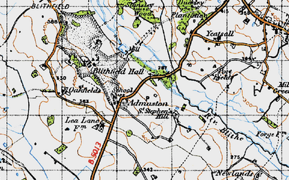 Old map of Admaston in 1946
