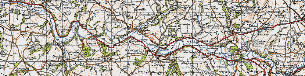 Old map of Adpar in 1947