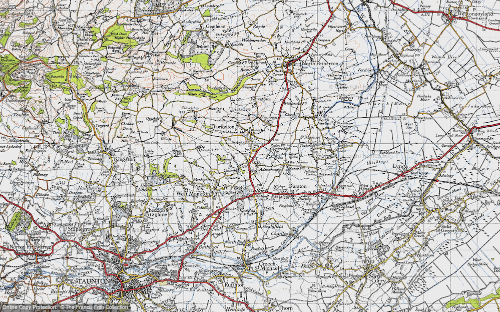 Old Map of Adsborough, 1946 in 1946