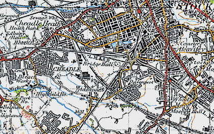Old map of Adswood in 1947