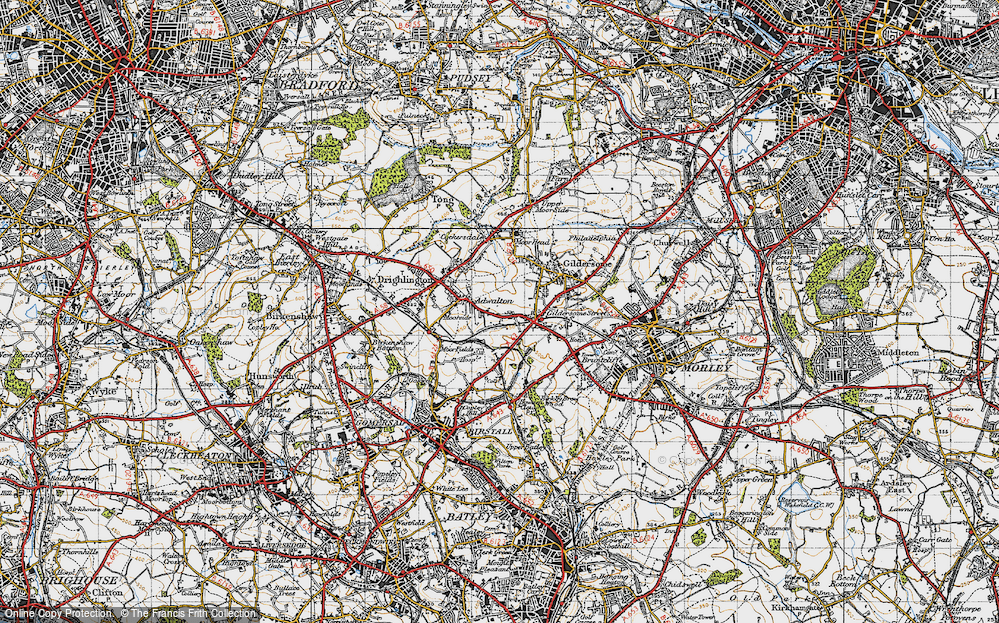Old Map of Adwalton, 1947 in 1947