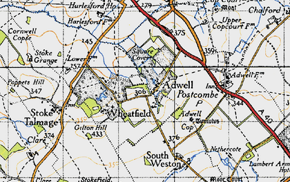 Old map of Adwell in 1947