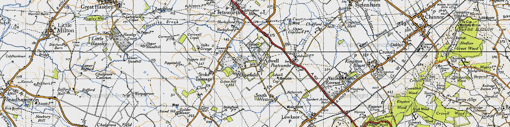 Old map of Wheatfield in 1947