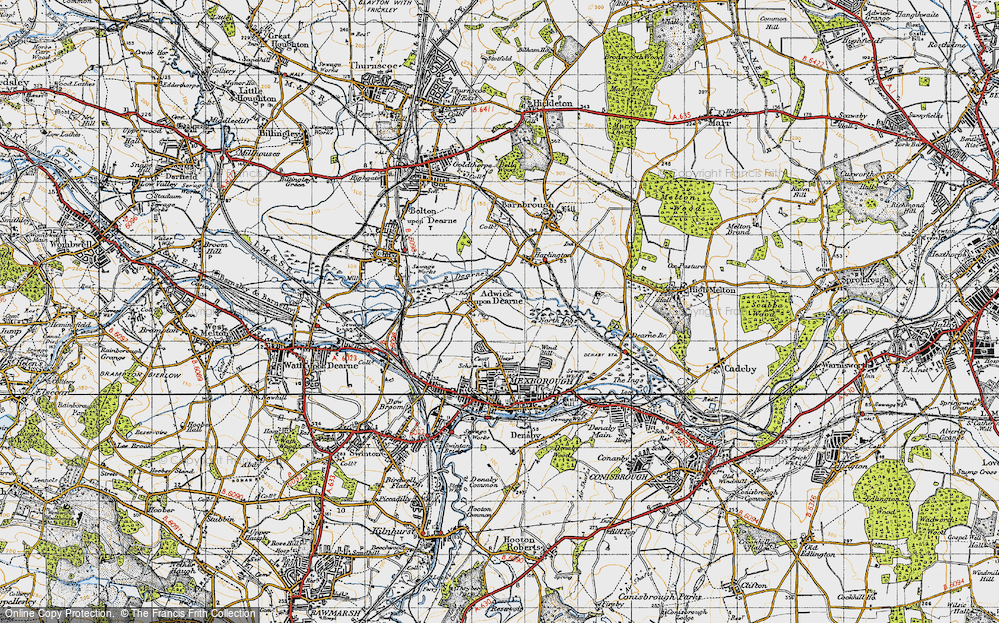 Old Map of Adwick upon Dearne, 1947 in 1947
