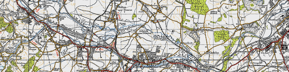 Old map of Adwick upon Dearne in 1947