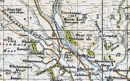 Old map of Ae in 1947