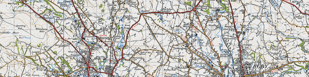 Old map of Affetside in 1947