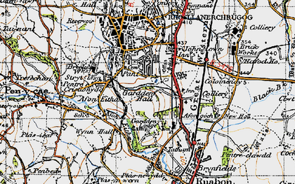 Old map of Afon Eitha in 1947