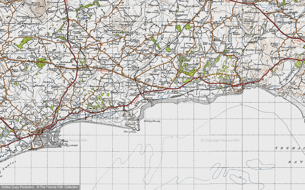 Old Map of Afon Wen, 1947 in 1947