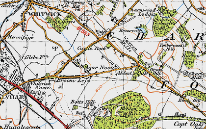Old map of Abbot's Oak in 1946