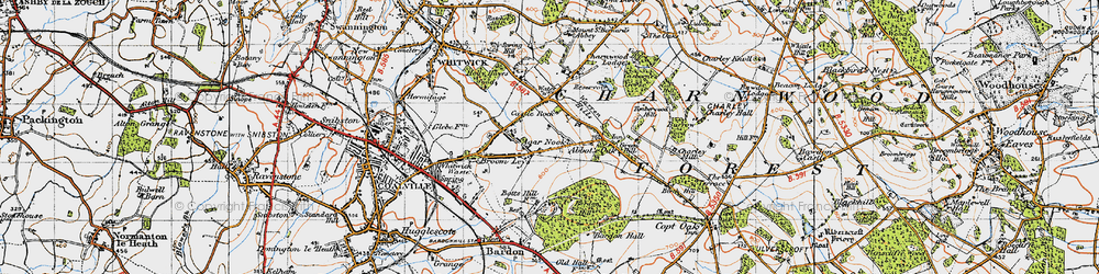 Old map of Agar Nook in 1946