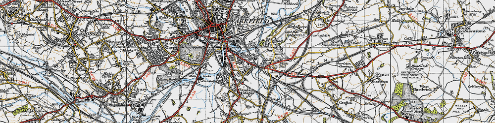 Old map of Agbrigg in 1947