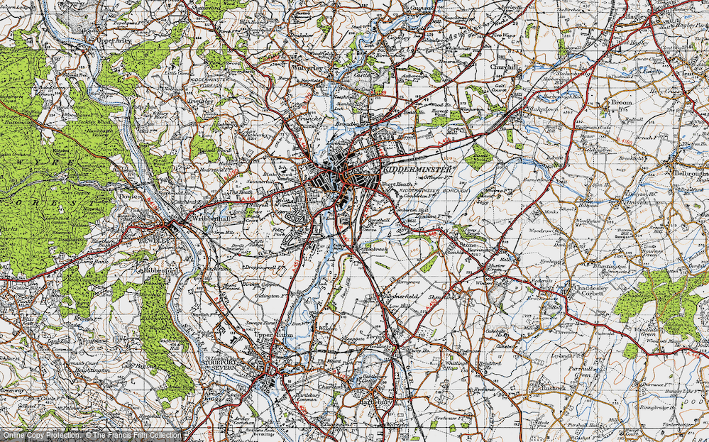Old Map of Aggborough, 1947 in 1947