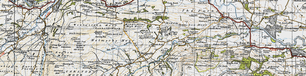 Old map of Agglethorpe in 1947