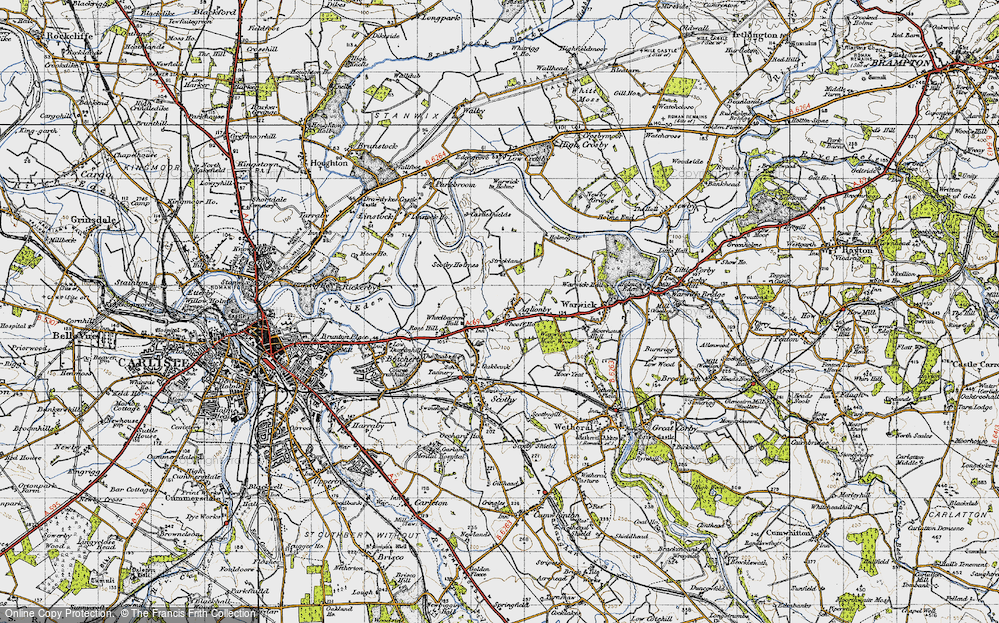Old Map of Aglionby, 1947 in 1947