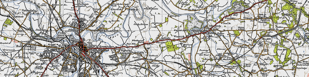 Old map of Wheelbarrow Hall in 1947