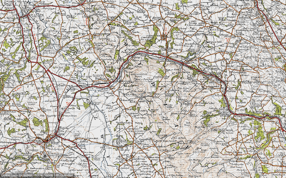 Old Map of Aifft, 1947 in 1947