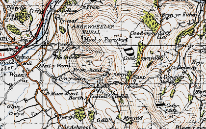 Old map of Aifft in 1947