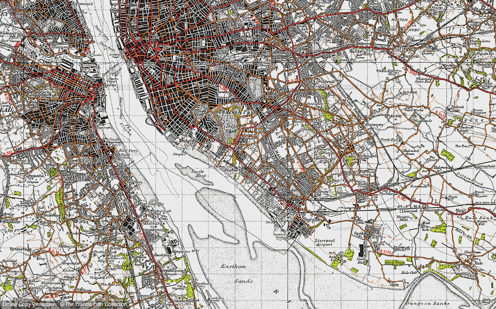 Old Map of Aigburth, 1947 in 1947