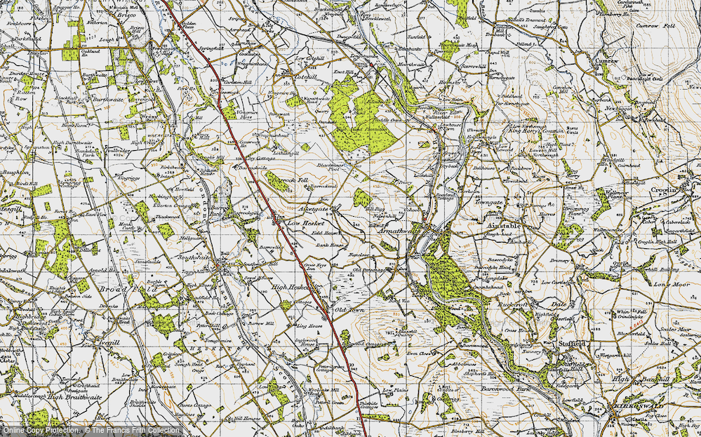Old Map of Aiketgate, 1947 in 1947