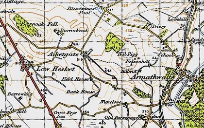 Old map of Aiketgate in 1947
