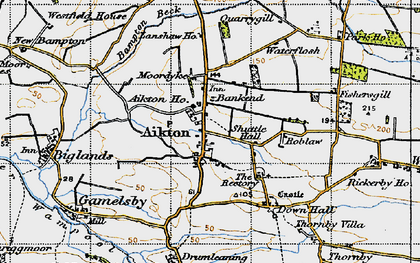 Old map of Aikton in 1947
